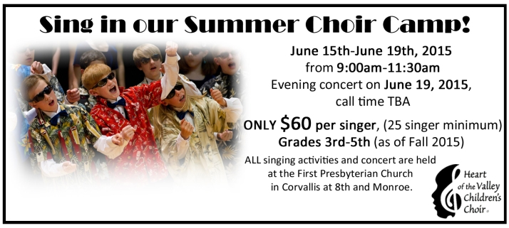 Summer Choir Camp